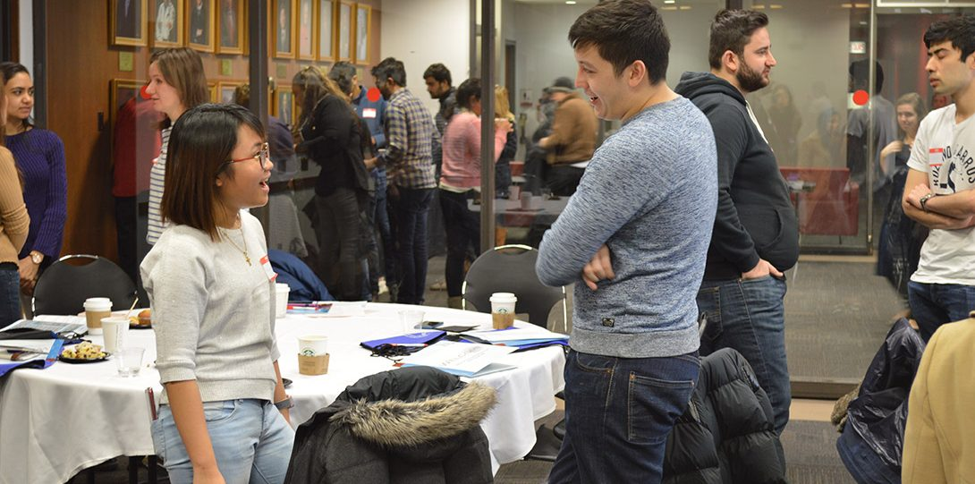 International students participate in a networking icebreaker during OIS' New International Student Summit.