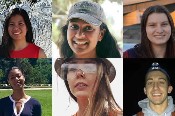 Headshots of the six UIC students who will receive the Wanxiang Fellowship for summer 2019.