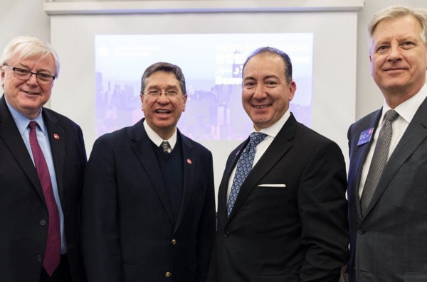 Chancellor Amiridis and Vice Provost for Global Engagement with representatives from Monterrey Institute of Technology