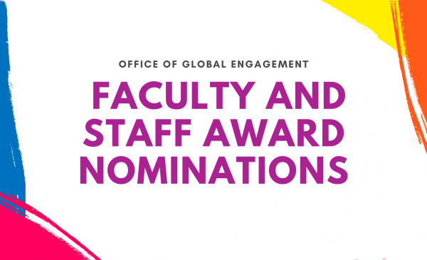 Office of Global Engagement Faculty and Staff Nominations