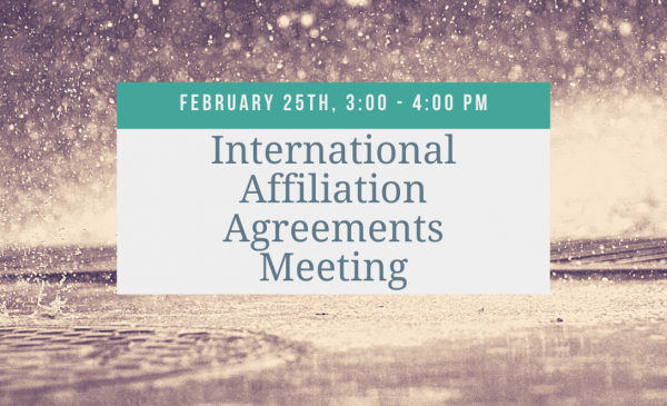 International Affiliation Agreements Meeting Flyer